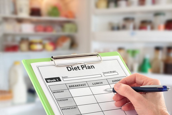 Prep a weekly meal planner and stick to it!