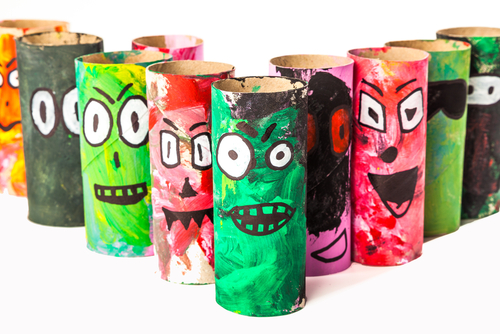 Toilet paper roll monsters!
