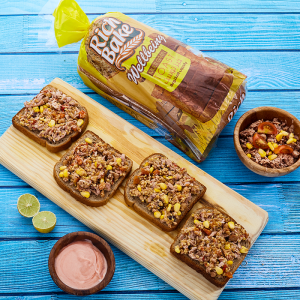 Tuna, Corn and Multigrain Toast, Topped with Thousands Island
